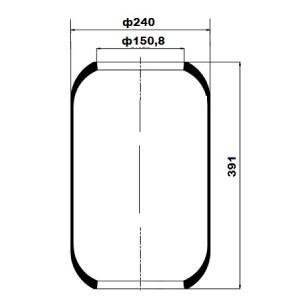 Въздушна възглавница мех POWERTECH 9661/CONTI 661N