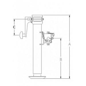 Опора телескопична LR3102