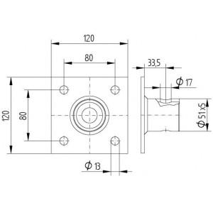 Пета за опора телескопична от тръба LT/ST01151